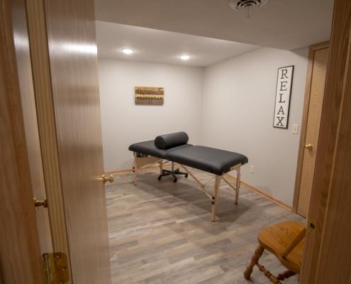 Lower level massage room